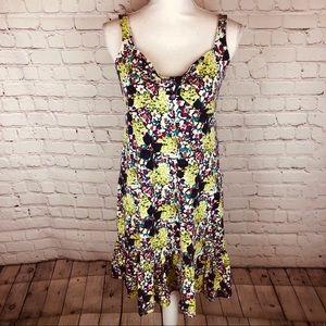 Ann Taylor floral sleeveless dress S